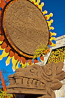 Aztec calendar, symbol of Mexico's culture and history,