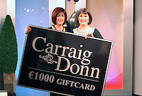 22/10/2010.Winner of the Carraig Donn Woman 2010 award Anne Jordan from Foxford with Director at Carraig Doon Anne Harrison.at Ireland AM studios at TV3 HQ, ,Dublin..Photo: Gareth Chaney Collins