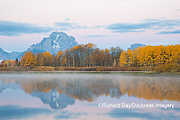 67545-09219 Sunrise at Oxbow Bend in fall; Grand Teton National Park; WY