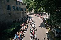 rolling through the town of Pamiers<br /> <br /> Stage 16: Carcassonne > Bagnères-de-Luchon (218km)<br /> <br /> 105th Tour de France 2018<br /> ©kramon