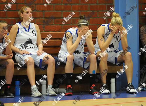 2012-04-25 / Basketbal / seizoen 2011-2012 / Ieper is landskampioen basketbal bij de dames. Kabo treurt..Foto: Mpics.be