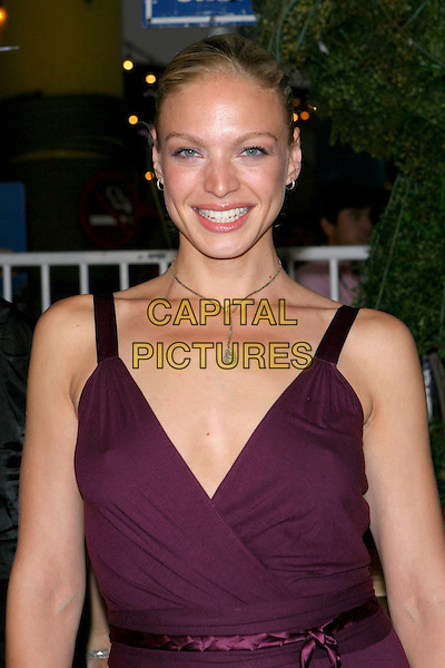 KRISTIN LEHMAN.Fox TCA Party, .Santa Monica, 29th July 2005.half length purple v-neck dress .www.capitalpictures.com.sales@capitalpictures.com.© Capital Pictures.