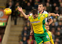 Bolton Wanderers' Christian Doidge battles with Norwich City's Christoph Zimmermann<br /> <br /> Photographer David Shipman/CameraSport<br /> <br /> The EFL Sky Bet Championship - Norwich City v Bolton Wanderers - Saturday 8th December 2018 - Carrow Road - Norwich<br /> <br /> World Copyright &copy; 2018 CameraSport. All rights reserved. 43 Linden Ave. Countesthorpe. Leicester. England. LE8 5PG - Tel: +44 (0) 116 277 4147 - admin@camerasport.com - www.camerasport.com