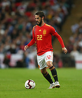 Spain's Isco<br /> <br /> Photographer Rob Newell/CameraSport<br /> <br /> UEFA Nations League - League A - Group 4 - England v Spain - Saturday September 8th 2018 - Wembley Stadium - London<br /> <br /> World Copyright &copy; 2018 CameraSport. All rights reserved. 43 Linden Ave. Countesthorpe. Leicester. England. LE8 5PG - Tel: +44 (0) 116 277 4147 - admin@camerasport.com - www.camerasport.com