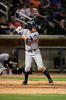 Pensacola Blue Wahoos third baseman Taylor Sparks (23) at bat during a game against the Birmingham Barons on May 8, 2018 at Regions Field in Birmingham, Alabama.  Birmingham defeated Pensacola 5-2.  (Mike Janes/Four Seam Images)