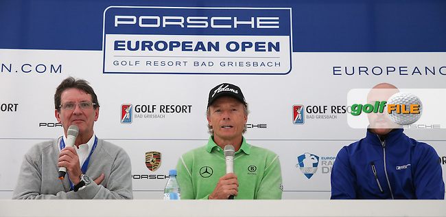 Bernhard Langer (GER) in Media Interview before the Porsche European Open 2015 played at Golf Resort Bad Griesbach, Bad Griesbach, Germany.  23/09/2015. Picture: Golffile | David Lloyd<br /> <br /> All photos usage must carry mandatory copyright credit (&copy; Golffile | David Lloyd)