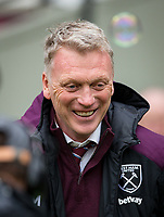 West Ham United Manager David Moyes pre match during the EPL - Premier League match between West Ham United and Southampton at the Olympic Park, London, England on 31 March 2018. Photo by Andy Rowland.