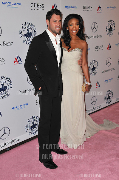 Brandy & Maksim Chmerkovskiy at the 32nd Anniversary Carousel of Hope Ball, to benefit the Barbara Davis Center for Childhood Diabetes, at the Beverly Hilton Hotel..October 23, 2010  Beverly Hills, CA.Picture: Paul Smith / Featureflash