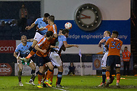 Blackpool's Kelvin Mellor scores his sides third goal to make the score 3-3 on the night and win the tie on aggregate<br /> <br /> Photographer Craig Mercer/CameraSport<br /> <br /> The EFL Sky Bet League Two Play-Off Semi Final Second Leg - Luton Town v Blackpool - Thursday 18th May 2017 - Kenilworth Road - Luton<br /> <br /> World Copyright &copy; 2017 CameraSport. All rights reserved. 43 Linden Ave. Countesthorpe. Leicester. England. LE8 5PG - Tel: +44 (0) 116 277 4147 - admin@camerasport.com - www.camerasport.com
