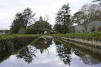 Long lake in the grounds of Loughcrew House, County Meath, Ireland