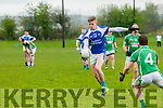Tommy Walsh (KOR) in action with John Blennerhassett (Miltown-Castlemaine) in the Castleisland Mart Senior Club Championship Relegation Play-off Round 1 at Firies GAA grounds Farranfore on Sunday