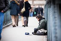 Beggar on Budapest street