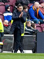 26th December 2019; Tynecastle Park, Edinburgh, Scotland; Scottish Premiership Football, Heart of Midlothian versus Hibernian FC; Jack Ross Hibernian Manager on the touchline  - Editorial Use