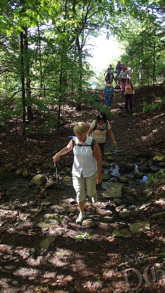 NWA Democrat-Gazette/FLIP PUTTHOFF <br /> Hikers make their way April 27, 2016 along the Ozark Highlands Trail.