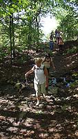 NWA Democrat-Gazette/FLIP PUTTHOFF <br /> Hikers make their way April 27, 2016 along the Ozark Highlands Trail.