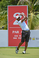 Saleh ALKAABI (QAT) watches his tee shot on 2 during Rd 1 of the Asia-Pacific Amateur Championship, Sentosa Golf Club, Singapore. 10/4/2018.<br /> Picture: Golffile | Ken Murray<br /> <br /> <br /> All photo usage must carry mandatory copyright credit (&copy; Golffile | Ken Murray)