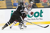 Barrett Kaib (PC - 8), Quinn Smith (BC - 27) - The Boston College Eagles defeated the Providence College Friars 4-2 in their Hockey East semi-final on Friday, March 16, 2012, at TD Garden in Boston, Massachusetts.