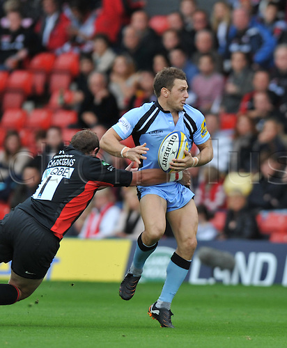 09,10.2011, Watford, England. Jimmy Gopperth In action during the Aviva Premiership  Rugby Union match between Saracens and Newcastle Falcons, played at Vicarage Rd. Mandatory Credit: Actionplus