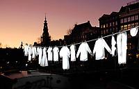 Nederland - Amsterdam- 2019  . Amsterdam Light Festival. Neighborhood van Sergei Kim.    Foto Berlinda van Dam / Hollandse Hoogte