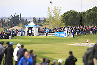 Rafa Cabrera Bello (ESP) on the 1st tee during Round 1 of the Open de Espana 2018 at Centro Nacional de Golf on Thursday 12th April 2018.<br /> Picture:  Thos Caffrey / www.golffile.ie<br /> <br /> All photo usage must carry mandatory copyright credit (&copy; Golffile | Thos Caffrey)