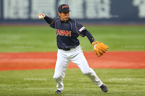 Hirokazu Ibata (JPN), .February 26, 2013 - WBC : .2013 World Baseball Classic, Exhibithion Game .match between Japan 0-1 Hanshin Tigers  .at Kyocera Dome, Osaka, Japan..(Photo by AJPS/AFLO SPORT)