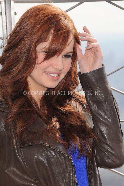 WWW.ACEPIXS.COM . . . . . .March 12, 2012...New York City...Debby Ryan visits the Empire State Buildings 86th floor observatory on March 12, 2012 in New York City....Please byline: KRISTIN CALLAHAN - ACEPIXS.COM.. . . . . . ..Ace Pictures, Inc: ..tel: (212) 243 8787 or (646) 769 0430..e-mail: info@acepixs.com..web: http://www.acepixs.com .