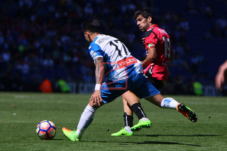 League Santander 2016/2017. Game: 31.<br /> RCD Espanyol vs Deportivo Alaves: 1-0.<br /> Hernan Perez vs Manu Garcia.
