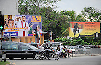 "Suedasien Asien Sri Lanka, Colombo , Praesident Mahinda Rajapaksa feiert seinen Sieg gegen die LTTE Tamil Tiger auf Propaganda Plakaten landesweit | .South Asia Sri Lanka, President Mahinda Rajapaksa celebrates his victory in war against the LTTE tamil tigers on propaganda posters  .| [ copyright (c) Joerg Boethling / agenda , Veroeffentlichung nur gegen Honorar und Belegexemplar an / publication only with royalties and copy to:  agenda PG   Rothestr. 66   Germany D-22765 Hamburg   ph. ++49 40 391 907 14   e-mail: boethling@agenda-fototext.de   www.agenda-fototext.de   Bank: Hamburger Sparkasse  BLZ 200 505 50  Kto. 1281 120 178   IBAN: DE96 2005 0550 1281 1201 78   BIC: ""HASPDEHH"" ,  WEITERE MOTIVE ZU DIESEM THEMA SIND VORHANDEN!! MORE PICTURES ON THIS SUBJECT AVAILABLE!! ] [#0,26,121#]"