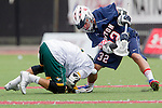 Orange, CA 05/16/15 - Andrew Hein (Dayton #32) and Bryant Hernandez (Concordia #5) in action during the 2015 MCLA Division II Championship game between Dayton and Concordia, at Chapman University in Orange, California.