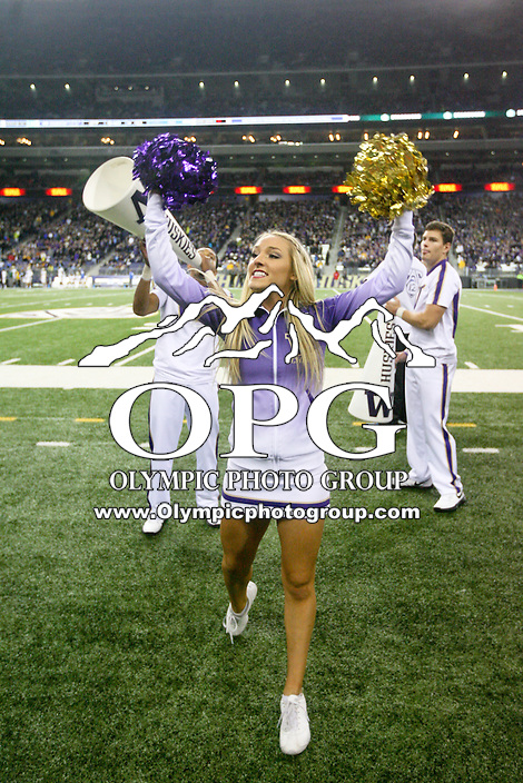 Nov 08, 2014:  Washington cheerleader Brittany Paige entertained fans during the game against UCLA.  UCLA defeated Washington 44-30 at Husky Stadium Seattle, WA.