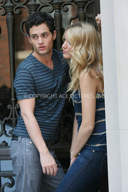 WWW.ACEPIXS.COM . . . . .  ....July 15 2008, New York City....Actors Blake Lively and Penn Badgley shot a kissing scene for the TV show 'Gossip Girl' on the Upper East Side of Manhattan on July 15 2008 in New York City....Please byline: AJ Sokalner - ACEPIXS.COM..... *** ***..Ace Pictures, Inc:  ..te: (646) 769 0430..e-mail: info@acepixs.com..web: http://www.acepixs.com