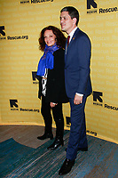 NEW YORK, NY - NOVEMBER 1: Diane von Furstenberg and David Miliband  at IRC Hosts The 2018 Rescue Dinner at New York Hilton Midtown on November 1, 2018 in New York City.        <br /> CAP/MPI99 <br /> &copy;MPI99/Capital Pictures