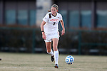 29 November 2013: Virginia Tech's Katie Yensen. The Virginia Tech University Hokies played the Duke University Blue Devils at Thompson Field in Blacksburg, Virginia in a 2013 NCAA Division I Women's Soccer Tournament Quarterfinal match. Virginia Tech won the game 3-0.