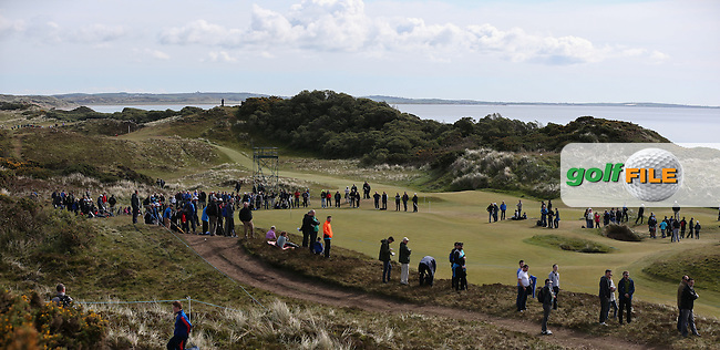 View of the first green during Round Three of the 2015 Dubai Duty Free Irish Open Hosted by The Rory Foundation at Royal County Down Golf Club, Newcastle County Down, Northern Ireland. 30/05/2015. Picture David Lloyd | www.golffile.ie