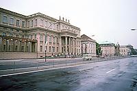 East Berlin:  looking west on Unter Den Linden, west of Museum Island. Photo '87.
