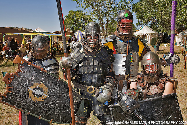 The Renaissance Fair is held each September at the historic museum of El Rancho de Las Golondrinas near Santa Fe and features dancers, kinghts, acrobats and many other performers all celebrating the culture and life style of the Medieval Middle Ages.  Knights in home made armor from the Society for Creative Anachronism do battle  to vie for the favor of the  King and Queen.