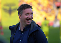Roar coach Robbie Fowler during the A-League football match between Wellington Phoenix and Brisbane Roar at Westpac Stadium in Wellington, New Zealand on Saturday, 23 November 2019. Photo: Dave Lintott / lintottphoto.co.nz