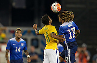 Foxborough, Mass. - Tuesday, September 8, 2015: Brazil defeats USMNT 4-1 during international friendly play at Gillette stadium.