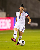HOUSTON, TX - FEBRUARY 03: Ali Krieger #11 of the USA advances the ball during a game between Costa Rica and USWNT at BBVA Stadium on February 03, 2020 in Houston, Texas.