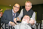 HOT SHAVE: The Manor Barber ios offering customers more than just a shave. From l-r were: Daniel Rouch (Trainer0, Dan Horan (Customer) and Peter O'Donoghue (Owner).   Copyright Kerry's Eye 2008