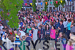 Large crowds enjoying the open air concert at the Fleadh by the Feale in Abbeyfeale last Saturday night.