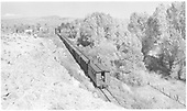 Eastbound train from rear.<br /> D&amp;RGW  Sapinero Branch, CO  Taken by Richardson, Robert W. - 9/24/1951
