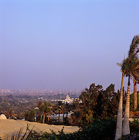 The house is situated on a hill top with views over the city of Cairo
