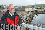 BOATYARD: West Kerry Councillor, Seamus Cosai Fitzgerald at the site of the old boatyard in Dingle, which is to be taken over the by the OPW.   Copyright Kerry's Eye 2008