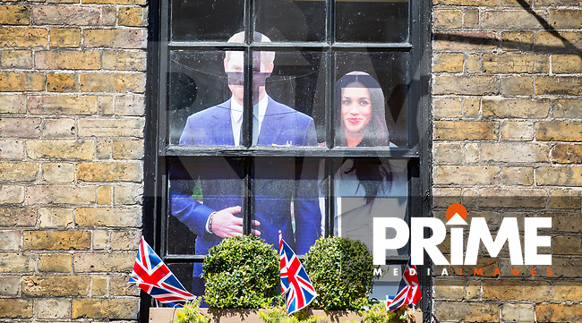 Windsor prepares for Royal wedding of Prince Harry & Meghan Markle images taken in and around the Town Centre & Windsor Castle, Windsor, England on 15 May 2018. Photo by Andy Rowland.