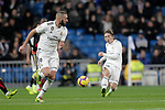 Real Madrid's Karim Benzema (L) and Luka Modric during La Liga match. December,15,2018. (ALTERPHOTOS/Alconada)