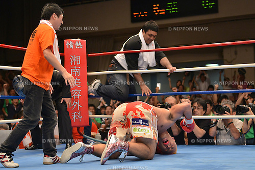 Kyotaro Fujimoto (JPN),<br /> JULY 25, 2013 - Boxing :<br /> Kyotaro Fujimoto of Japan his sixth round TKO victory in the vacant Japanese heavyweight title bout at Korakuen Hall in Tokyo, Japan. (Photo by Hiroaki Yamaguchi/AFLO)