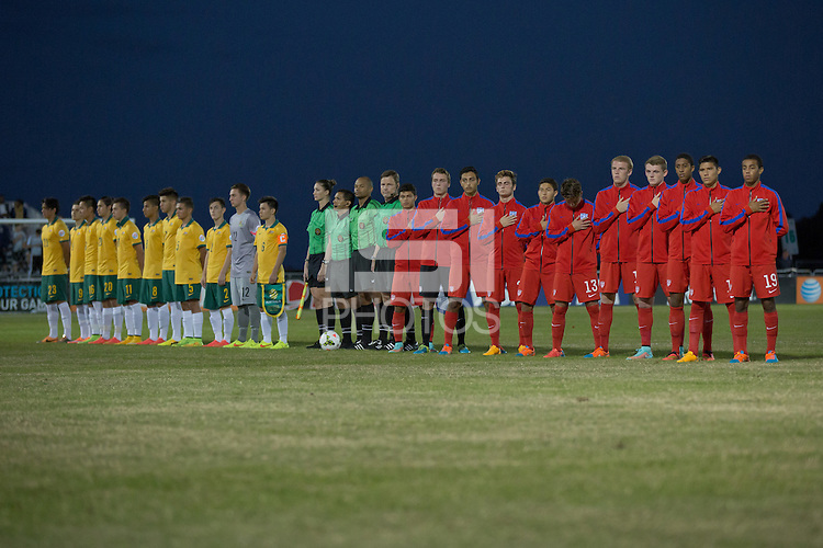 Lakewood Ranch, FL - November 30, 2014: The U.S. U-17 Men's National team defeated Australia 2-1 during the 2014 Nike International Friendlies at Premier Sports Campus.