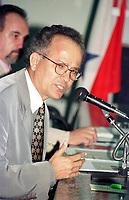 Ex superintendente da Sudam Arthur Guedes Tourinho afastado em 1999, durante  sessão da assembléia legislativa do Pará em que parlamentares questionavam a não  implantação do projeto Salobo (cobre)  no Pará pela CVRD em 07/04/1999.<br />Foto Wagner Bill/Interfoto