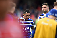 Anthony Perenise of Bath Rugby looks dejected after the final whistle. Gallagher Premiership match, between Gloucester Rugby and Bath Rugby on April 13, 2019 at Kingsholm Stadium in Gloucester, England. Photo by: Patrick Khachfe / Onside Images
